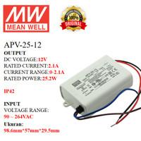 MEANWELL Power Supply APV-25-12 APV 25 12 APV2512 Ballast 12vI ndoor