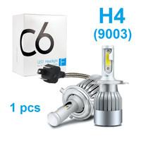Lampu LED Mobil Headlight Lampu Utama Mobil C6 H4 H11 H8 H9 H16 36W - 1 PCS H4