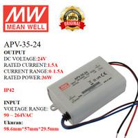 MEANWELL Power Supply APV-35-24 APV 35 24 APV3524 Ballast 24v Indoor
