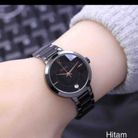 jam tangan cewek / wanita fossil design original winner store - Hitam