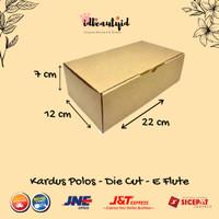 Kardus Packing karton Polos uk 22x12x7 cm --Die Cut dan easy usage--