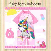 Baju Renang Anak Cewek Baju Renang Diving Anak Perempuan Pink Unicorn