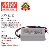 MEANWELL Power Supply APV-12-12 APV 12 12 APV1212 Ballast 12v Indoor