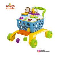 Bright Starts 4-in-1 Shop 'n Cook Walker Mainan Anak Gerobak