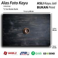 Alas foto kayu Real / wooden Background Backdrop photo Black rustic K