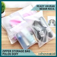 Zipper Storage Bag Pouch Polos Kantong Plastik Doff Travel Bag