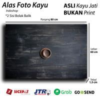 Alas foto kayu Real / wooden Background / Backdrop photo Black rustic
