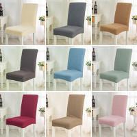 Sarung kursi makan chair cover elastis penutup kursi warna warni - White