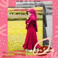 Gamis Bayi/Anak Shaqeena Series Warna Maroon 1-4 thn