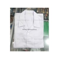 Baju Seragam Jas Lab/ Jas Praktikum/ Baju Laboratorium Lengan Pendek - M