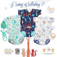 LIBBY Setelan Newborn Lengan Pendek Celana Pop Baju Bayi New Born
