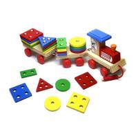 Mainan Edukatif / Edukasi Anak - Balok Kayu - Kereta / Train Geo