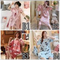Daster Rumah Wanita Impor Baju Tidur Cewek Piyama Gadis Lucu Import