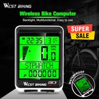West Biking LED Bike Computer Speedometer Odometer MTB Bike Backlight