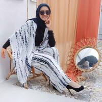 Set Outer Cardigan + Celana Kulot Tie Dye Lilit Rayon Grosir Bali
