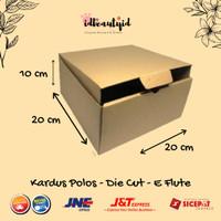 Kardus Packing karton Polos uk 20x20x10 cm --Die Cut dan easy usage--