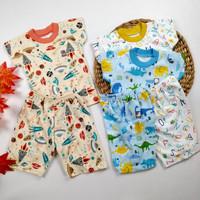 Baju Anak Bayi Setelan Pendek Little Q Pakaian Baby SNI Nyaman Halus