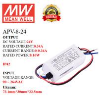 MEANWELL Power Supply APV-8-24 APV 8 24 APV824 Ballast 24v Indoor IP42
