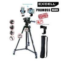 Tripod Excell Promoss Black Hitam Camera DSLR Takara Somita weifeng