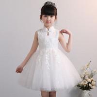 Dress anak cewek PINK / WHITE / BLUE MODERN CHEONGSAM import XIPAO