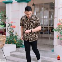 Baju batik pria kemeja batik pria cowok lengan pendek pekalongan G58