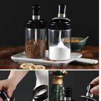 A016 Botol Bumbu Dapur / Tempat Minyak Garam Kaca / Toples Wadah Bumbu