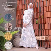 Homey Dress Motif-Homey Dress Hazima-Bahan Katun Rayon-Gamis Wanita
