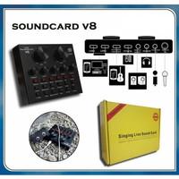 SoundCard V8 Taffware Audio USB EXTERNAL SoundCard Bluetooth Mixer V8