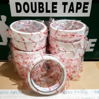 "DOUBLE TAPE KERTAS 1"" (24MM X 8MTR) MURAH TOP QUALITY"