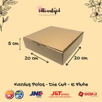Kardus Packing karton Polos uk 20x20x5 cm --Die Cut dan easy usage--