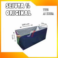 Kolam Terpal ikan / 200x150x75cm / Type A5 Korea / Kwalitas Sedang - BIRU SILVER