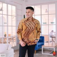 Baju Kemeja Batik Pria Cowo Lengan Panjang Pendek cowok modern 43 - S