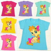 kaos anak perempuan 0-10 tahun / baju anak perempuan 0-10 kucing / cat