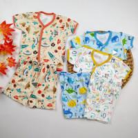 Baju Anak Bayi Setelan Lengan Pendek Celana 3/4 Little Q Pakaian Baby - M