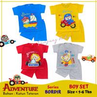 Stelan setelan baju kaos anak bayi laki laki cowok cowo lucu termurah