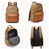 Tas Fossil Buckner backpack khaki sz 43x31x15cm