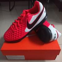 Sepatu Futsal Anak Nike Tiempo Legend 8 Club Laser Crimson Size 38