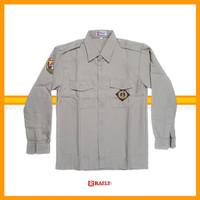 Baju Kemeja Pramuka Pembina Guru Bahan Rapilo Pria Lengan Panjang