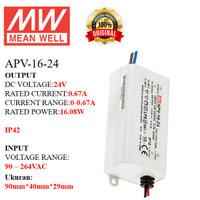 MEANWELL Power Supply APV-16-24 APV 16 24 APV1624 Ballast 24v Indoor
