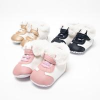 Bebiso Sepatu Bayi Prewalker Boots with Feather - Merah Muda, No1