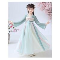 Dress anak cewek kekinian GREEN FLOWER HANBOK DRESS import XIPAO IMLEK
