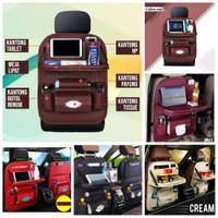 set car seat organizer plus meja lipat tas jok mobil multi fungsi