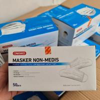 ONEMED Masker Karet 3 Ply Masker Non-Medis Masker Earloop 3 ply Malang