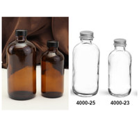 Botol Kaca Boston Series 250ml/500ml/1000ml/ Botol Juice/Botol Kopi - Bening/Clear, 500ml
