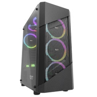 Aigo DarkFlash Pollux Black - Iron Mesh Mid Tower ATX Gaming Case