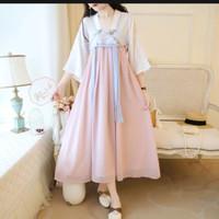 gaun hanfu chinese dress/ pakaian imlek wanita original premium