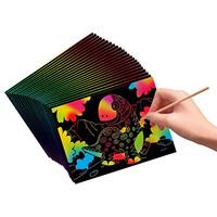 Mainan Edukasi RAINBOW SCRATCH ART CRAFT