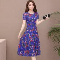 Dress Batik Wanita Lengan Pendek / Baju Terusan Wanita