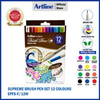 ARTLINE Spidol Supreme Brush Pen SET 12 Colours EPFS-F/12W