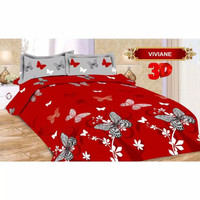 Full Set Bedcover + Sprei Bonita 3D King Non Rumbai 180 Motif Viviane